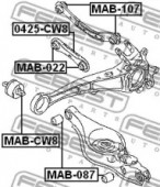 Febest MAB-022 Сайлентблок заднего рычага