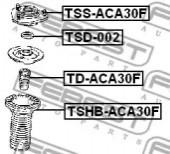 Febest TSHB-ACA30F Пыльник переднего амортизатора