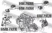 Febest HMB-FKFR Сайлентблок передней подушки двигателя