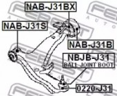 Febest NAB-J31S Сайлентблок передний переднего рычага