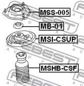 Febest MSI-CSUP Проставка задней пружины верхняя