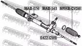 Febest MRKB-CV5W Пыльник рулевой рейки