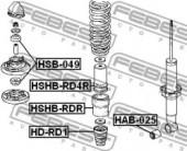 Febest HSHB-RD4R Пыльник заднего амортизатора