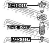 Febest MZSHB-323F Пыльник переднего амортизатора