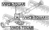 Febest VWCB-TOUAR Опора карданного вала