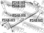 Febest FDAB-002 Сайлентблок рессоры