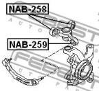 Febest NAB-258 Сайлентблок поворотного кулака