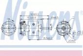 Nissens 87097 Электродвигатель вентилятора отопителя