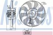 Nissens 85684 Вентилятор радиатора