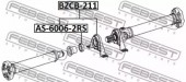 Febest BZCB-211 Подвесной подшипник карданного вала