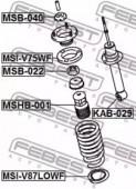 FEBEST MSI-V87LOWF Проставка пружины нижняя