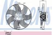 Nissens 85543 Вентилятор радиатора