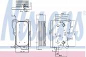 NISSENS 90783 Масляный радиатор