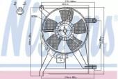 Nissens 85351 Вентилятор радиатора