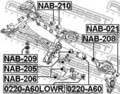 Febest NAB-209 Сайлентблок