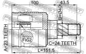 Febest 0211-N16JP Шарнiр приводного валу