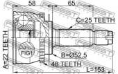 Febest 1210-012A48 Шарнiр приводного валу