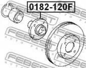 Febest 0182-120F Пiдшипник ступицi колеса