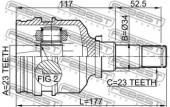 Febest 0111-001 Шарнiр приводного валу