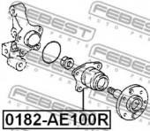 Febest 0182-AE100R Пiдшипник ступицi колеса