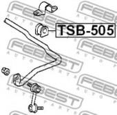 Febest TSB-505 Втулка стабілізатора