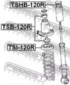 Febest TSI-120R Проставка пружини