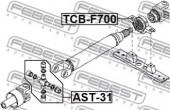 Febest TCB-F700 Підвісний підшипник