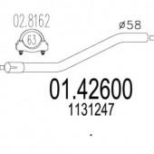 MTS 01.42600 Проміжна труба вихл. системи