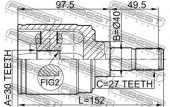 Febest 0311-HRVMTRH Шарнiр приводного валу