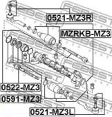FEBEST 0522-MZ3 Рульова тяга