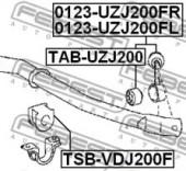 Febest TSB-VDJ200F Втулка стабілізатора
