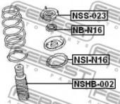 Febest NSI-N16 Проставка пружини