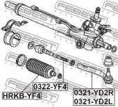 Febest HRKB-YF4 Пильовик рульової рейки