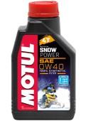 Motul Snowpower 0W-40 4T Синтетическое масло для 4Т двигателей для снегоходов