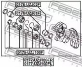 Febest 0177-UZJ100FR Гальмівний супорт