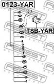 Febest TSB-YAR Втулка стабілізатора
