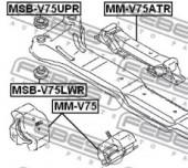 Febest MSB-V75UPR Сайлентблок