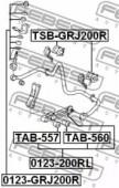 Febest TSB-GRJ200R Втулка стабілізатора