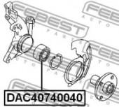 Febest DAC40740040 Пiдшипник ступицi колеса