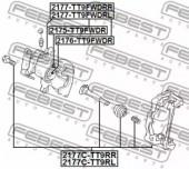 Febest 2177C-TT9RR Скоба гальмівного супорта