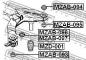 Febest MZAB-097 Сайлентблок