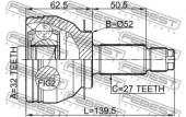 Febest 0810-B13MT Шарнiр приводного валу