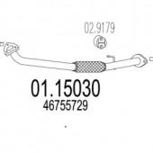 Mts 01.15030 Передня труба вихл. системи