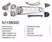 Nipparts N1158000 Комплект ланцюг натягувач