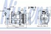 Nissens 89081 Компрессор кондиционера на BMW X5 E53