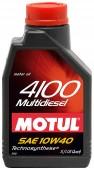 Motul 4100 MULTIDIESEL SAE 10W-40 Полусинтетическое моторное масло