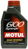 Motul 6100 SYNERGIE 15W-50 Полусинтетическое моторное масло