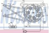 Nissens 85017 Вентилятор кабiни кондиц.