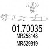 Mts 01.70035 Задня труба вихлопної системи