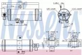 NISSENS 95060 Осушувач кондицiонера
